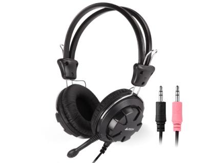 A4Tech HS-28 HEADSET BLACK+GREY