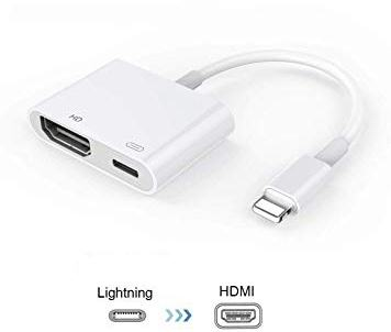Apple Lighting To Hdmi+Lighting