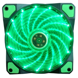 Aurora case fan 12c 15lights GREEN
