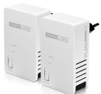 Power Line Adapter Kit Totolink PL200KIT 200Mbps