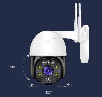 IP Outdoor PTZ Camera 1080p 4mm Wireless მოძრავი