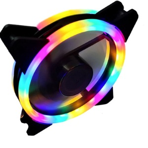 Aurora case fan 12cm double RAINBOW