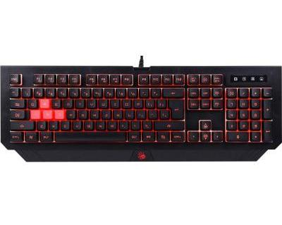 A4Tech B125 BLOODY KEYBOARD USB BLACK US+RUSSIAN
