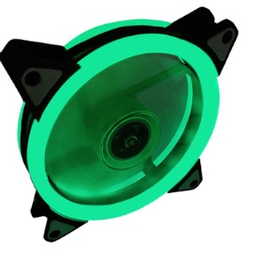 Aurora case fan 12cm double GREEN