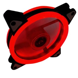 Aurora case fan 12cm double RED